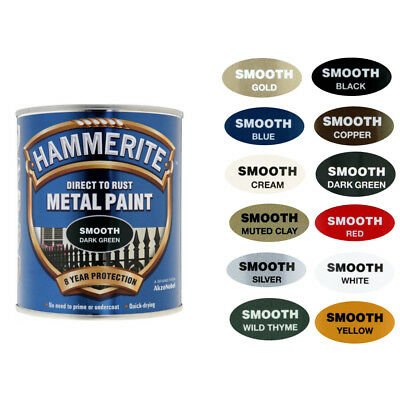 Hammerite Metal Paint Smooth with Wide Range Of Colours Available