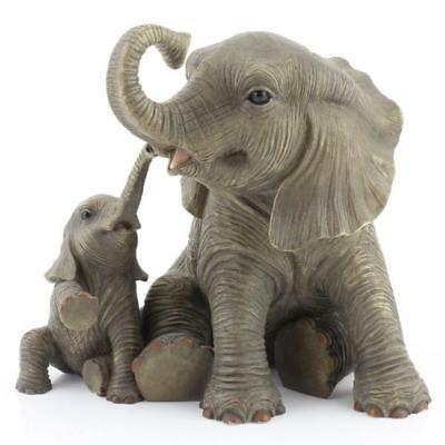 Elephant Mother Baby Figurine Statue Playtime Ornament Leonardo Africa