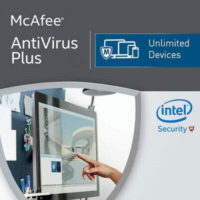 McAfee Antivirus Plus 2019 Unlimited Devices 12 Months License Antivirus 2018 AU