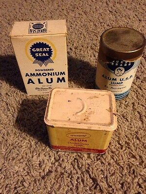 Vintage Alum Spice Tins & Containers