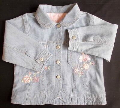 Mothercare baby girl jacket denim blue 9-12 month bnwots