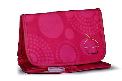 Thirty One - Fold And Go Organizer w/Notepad PINK CIRCLE SPIRALS 068G - NEW:SALE
