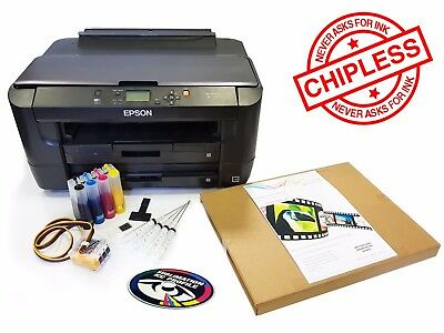 A3 Dye Sub Sublimation Printer Pack Epson WF-7110 + Ink System + Ink + A3 Paper