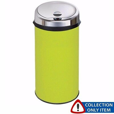 Inmotion 42L Lime Green Stainless Steel Auto Sensor Kitchen Bin *Grade A Return*