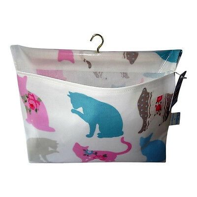 Cat Design Oilcloth Peg Bag - Made in Great Britain