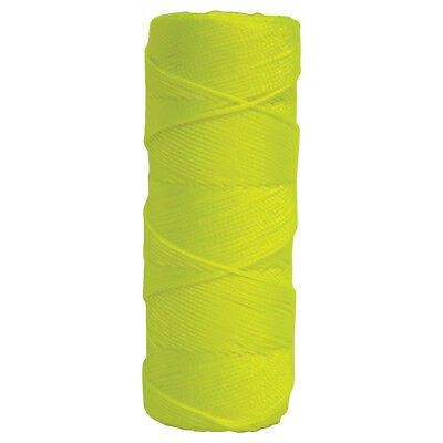 Kraft Fluorescent Yellow Braided Nylon Building Mason's Line - 500' Tube