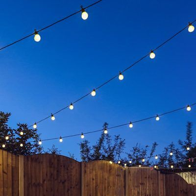 8 - 120m Connectable Outdoor Garden LED Festoon String Lights | Party Globe Bulb
