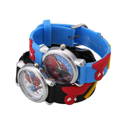 Movie Child Fashion Rubber Leather Boy Kid Analog Quartz Wrist Watch Gift