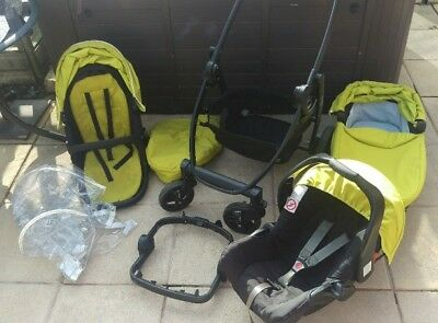Graco Evo Lime Pushchair full travel system Single Seat, baby cot, car seat etc