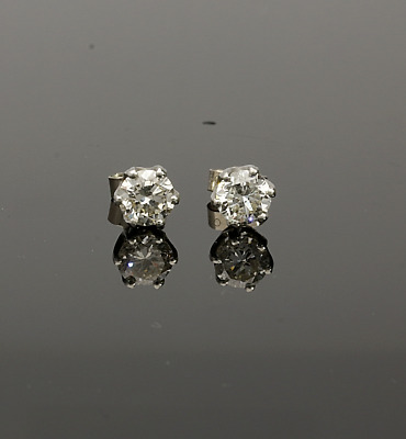 18CT WHITE GOLD DIAMOND STUD EARRINGS 1.80cts