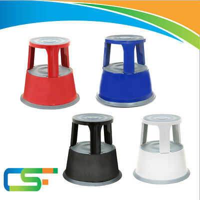 klik Step Stool Kick Stool//Roller Stool//Step into//Strong HIGH QUALITY GS tested up to 150 kg Grey Metal