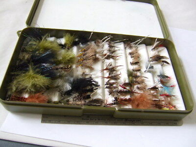 Fly Fishing  White River  Fly  Lure Box  With About 50 +  Assorted Flies