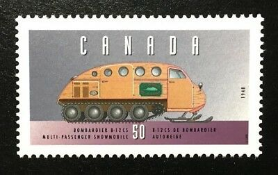 "Canada #1552c MNH, Historic Land Vehicles ""3"" Bombardier Snowmobile Stamp 1995"