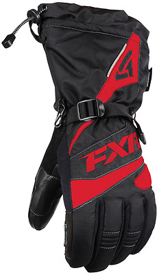 FXR MENS FUEL Black / Red COLD WEATHER SNOWMOBILE GLOVES -Medium or 2XL XXL -NEW
