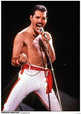 QUEEN ~ FREDDIE MERCURY LOS ANGELES 1982 ~ 23x33 MUSIC POSTER ~ NEW/ROLLED!