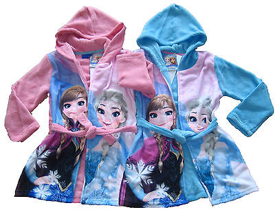 Disney Frozen Eiskönigin Bademantel Anna Elsa  104 / 110 / 116 / 128 NEU