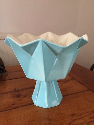 VINTAGE LARGE MID CENTURY RED WING PRISMATIC VASE 796 from the US GOOD CONDITION