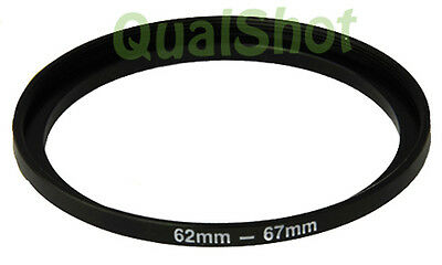 Step-up adapter ring 62-67 62mm-67mm Anodized Black , in USA