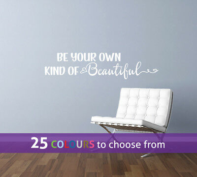Be your own kind of BEAUTIFUL spa hair beauty salon heart wall art sticker decal