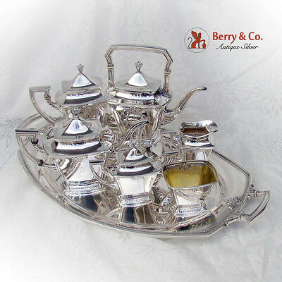 Trianon 7 Piece Tea Coffee Set Sterling Silver International 1921
