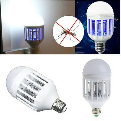 E27 15W LED Zapper Anti Mosquito Light Bulb Lamp Flying Insects Moths Zappers