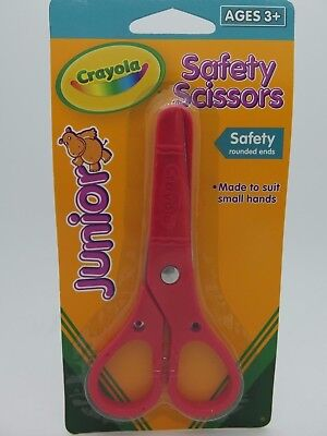 RED Crayola Safety Scissors Left & Right Handed Ages 3 and Up  69 3002A*