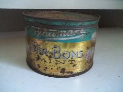 Vintage Advertising Whitman's Air Bons Mints Tin Full Of Buttons Estate Find