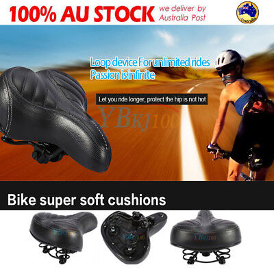 Wide Big Bum Bike Bicycle Cycling Sprung Comfort Soft Sports Saddle Seat Outdoor
