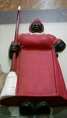 Vintage Black Americana Mammy Cast Iron Notepad Holder Wall Decor Hang