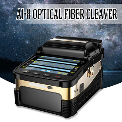 "5"" LCD Display 50000 Ai-8 Automatic Optical Fiber Fusion Splicer Night Operation"