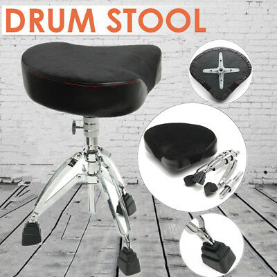 Triangle Drum Throne Chrome Heavy Duty Double Braced Adjustable Seat Chair Stool