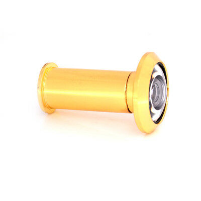200 Degree Wide Angle Peephole Door Viewer Gold-plated For Furniture Hardware UK