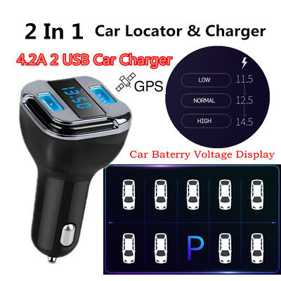 Quick Car Charger Car Locator Tracker GPS GSM GPRS For iphone Android 2USB 4.8A