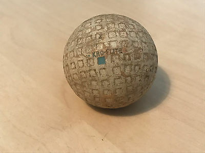 Antique/Vintage Spalding Kro-Flite Blue Square Mesh Golf Ball