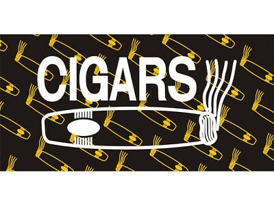 50cm by 25cm Cigars Production Collection Ashtray Hookah Enthusiasts Banner Sign