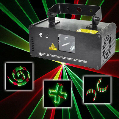 3D DMX 8CH RGY Stage Lights AUTO Laser Projector RC DJ Show Party Xmas Lighting