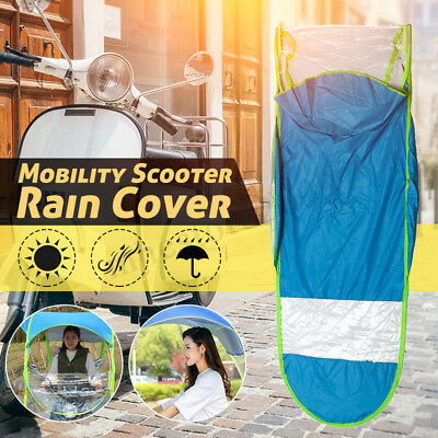 Universal Car Motor Scooter Blue Umbrella Mobility Sun Shade Rain Cover Safe DIY