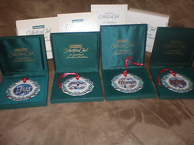 Longaberger Collector's Club Ornaments - 1996, 1997, 1998, 1999 - New