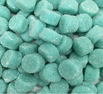 1Kg Tiffany Blue Lollies Soft Jubes Candy Buffet Lollies Strawberry Flavour