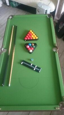 Omega Debut indoor Snooker / Pool Table 4ft with cues. excellent condition