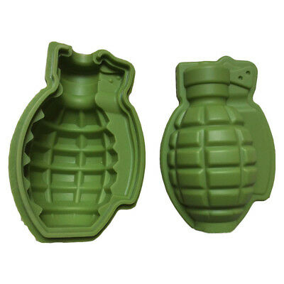 Grenade 3D Ice Cube Mold Maker Bar Party Silicone Trays Mold MakerTool Gift