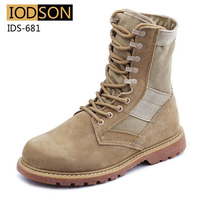 4dbdbf1b8d83cb IDS681Outdoor Army Boot Men s Military Desert Tactical Combat Ankle Boots  Shoes