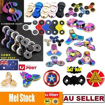 New 3D Figet Hand Spinner Finger EDC Metal Bearing Focus Autism ADHD Adult Toy