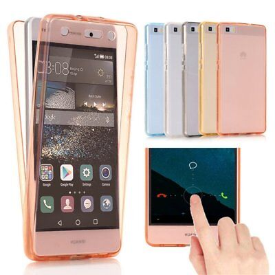 Full Body Front & Back Shockproof 360° Soft Clear Gel Case for Huawei P8 P9 Lite
