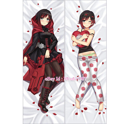 RWBY Dakimakura Red Trailer Ruby Rose Anime Girl Hugging Body Pillow Case Cover