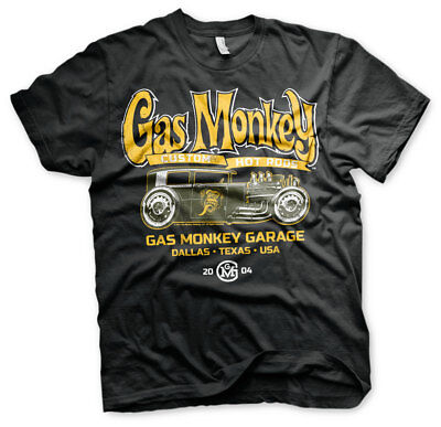 Gas Monkey Garage Green Hot Rod Custom GMG 2004 Fast N Loud Männer Men T-Shirt