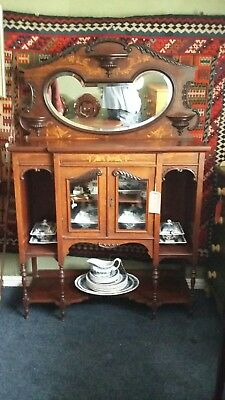 Edwardian chiffonier inlaid small excellent condition