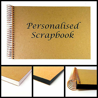 Personalised Scrapbook - Custom Text Cover in A4 and A5