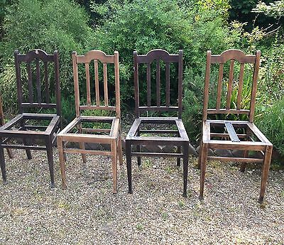 Set Of 4 Dining Chairs For Restoration / Upholstery Project