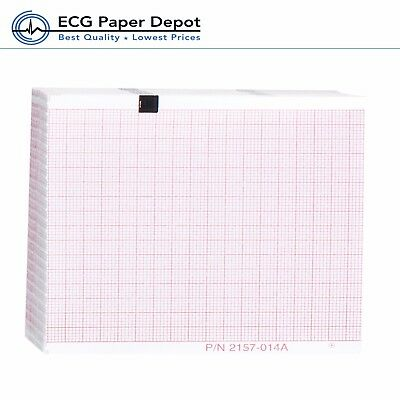 Schiller/Welch Allyn ECG Recording Paper EKG Printing Chart 2157-014A Red 10pack